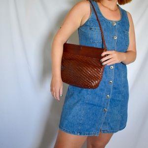 Vintage Brown Woven Bally Bag